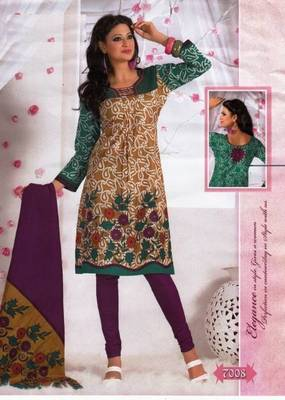 Elegant Dress Material Cotton Designer Prints Unstitched Salwar Kameez Suit D.No BN7008