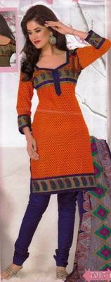 Elegant Dress Material Cotton Designer Prints Unstitched Salwar Kameez Suit D.No BN7013A