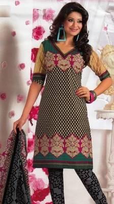Elegant Dress Material Cotton Designer Prints Unstitched Salwar Kameez Suit D.No BN7022