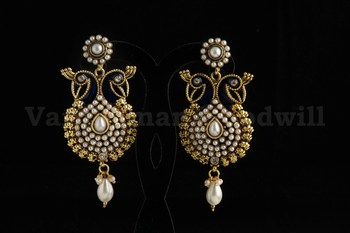 exclusive polki jaipuri earrings