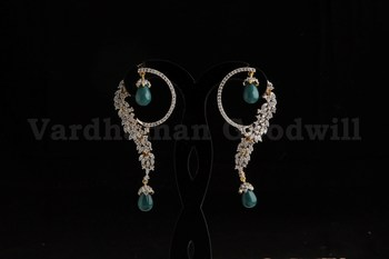 stylish rajwadi earrings
