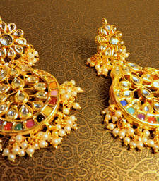 Maharani Navratna Pearl Designer Traditional Jhumki