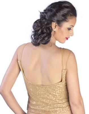 Gold Sequins Corsette Blouse