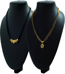 Combo Pack Of Two 24K Gold Plated Alloy Mangalsutra