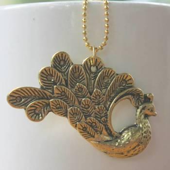 Golden mayur necklace