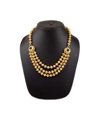 Jav Mani Triveni Haar 24K Gold Plated Alloy Necklace