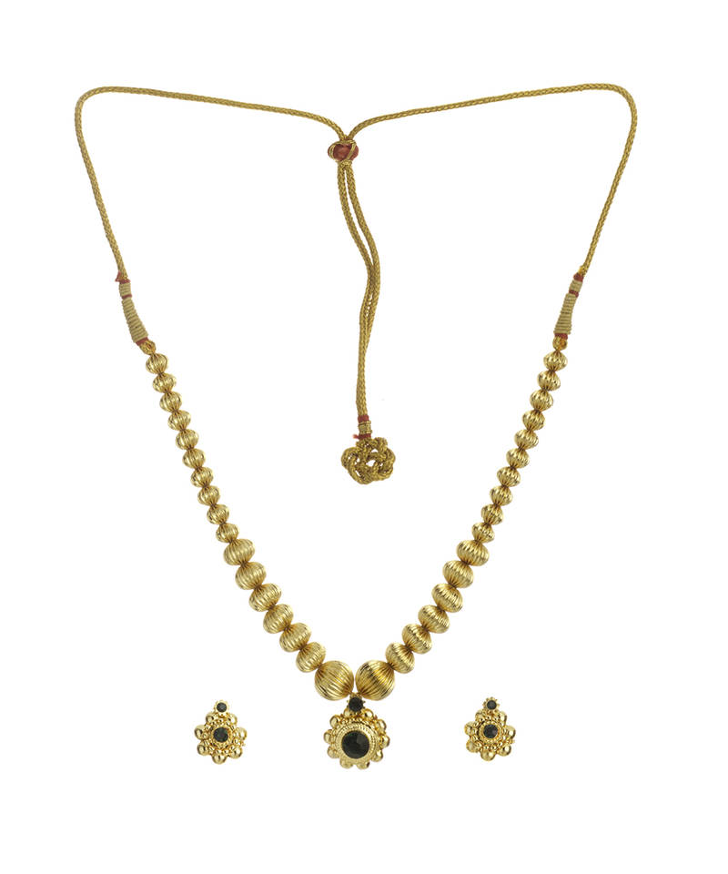 15bf3c7b65508 Alter net tarbuj mani haar 24k gold plated alloy necklace and earring set