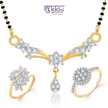 Sukkhi Angelic Gold & Rhodium Plated CZ Combo