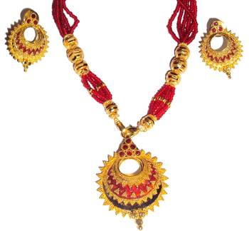 Assamese Jewellery Keru-Red