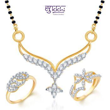 Sukkhi Fabulous Gold & Rhodium Plated CZ Combo