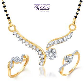 Sukkhi Stunning Gold & Rhodium Plated CZ Combo