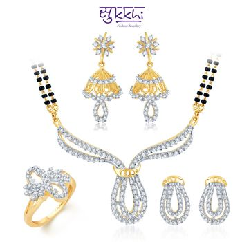 Sukkhi Pretty Gold & Rhodium Plated CZ Combo