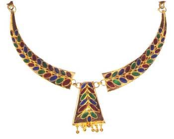 Handmade Ethnic Indian Assamese Jewellery - Dhansira Pepa Haar Set
