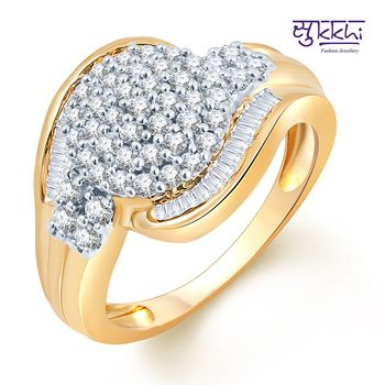 Sukkhi Marvelous Two Tone CZ Ring