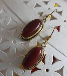 Buy Marsala Stone Earrings danglers-drop online