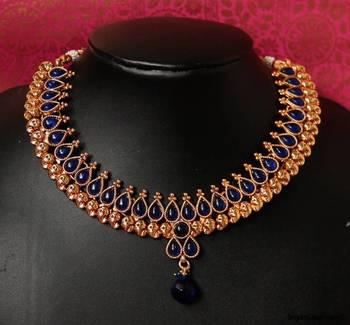 Royal Blue Drop Leaf - nks60b