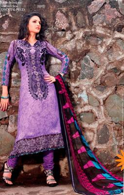 Elegant Aesthetic Karachi Heavy Embroidery Crepe Jacquard Salwar Kameez 5406A