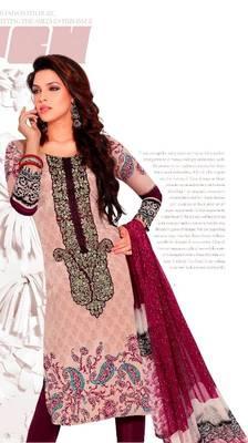 Elegant Aesthetic Karachi Heavy Embroidery Crepe Salwar Kameez 5410A