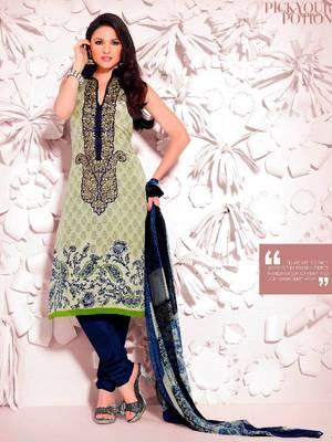 Elegant Aesthetic Karachi Heavy Embroidery Crepe Salwar Kameez 5410B