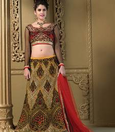 Buy Weding Special Offer multicolor Heavy Silk embroidered unstitched lehenga-choli