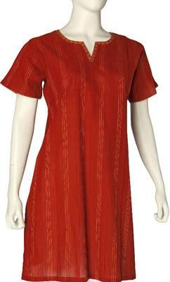 Just Women - Medium length Kurti with pin tucks