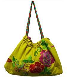 Rose Flowermachine Embroidery Work Bag