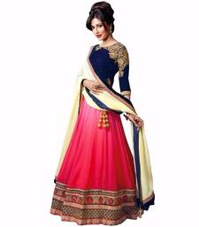 Buy multicolor Velvet embroidered lehenga bridal-lehengas bridal-lehenga online