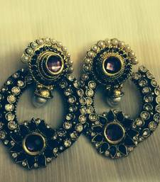Buy Purple accent rajwadis Earring online