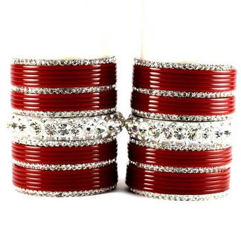 personalized acrylic metel bangles set colour red size-2.4,2.6,2.8,2.10
