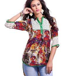 Buy Printed Casual Tops With Roll Up Sleeve party-top online