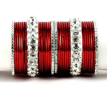 metel kara churi bangles set colour marron  size-2.4,2.6,2.8,2.10