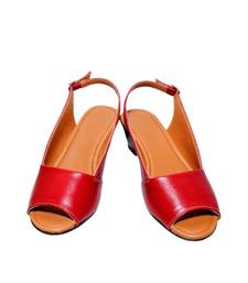 Buy Red richiee  wedges ballerina shoes Shoe online