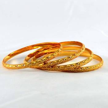 micro gold platted bangles size-2.4,2.6,2.8