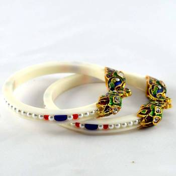 acrylic rajasthani moti stretchable bangle size-2.4,2.6,2.8