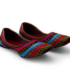 multicolor Synthetic Leather party wear traditional footwear for women