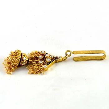 gold platted satka brooch
