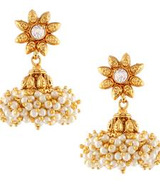 Buy Chandni Pearls Sunflower South Indian Jhumka Earring jhumka online