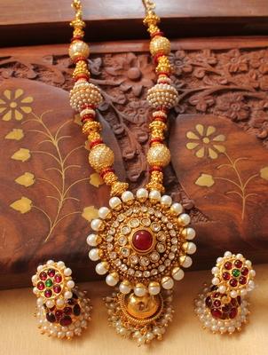 Gorgeous Goldplated Handmade Designer  Necklace Set - DJ23352