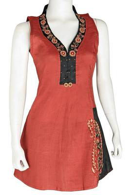 Just Women - Stylish Kurti with Embroidery