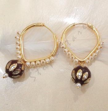 pearl drop baali maroon