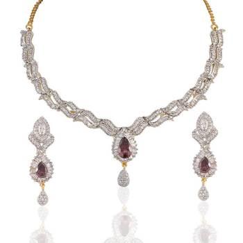 Heena Royal western type necklace set @ HJNL21