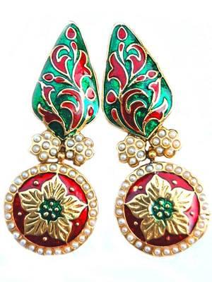 Maayra Traditional Party Long Meena Earrings