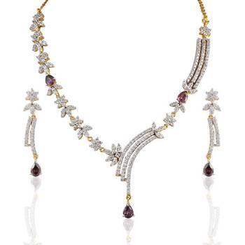 Heena Charm Holder multicolour round shape Necklace set @ HJNL27
