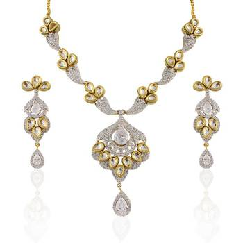 Heena Traditional collection polki necklace set