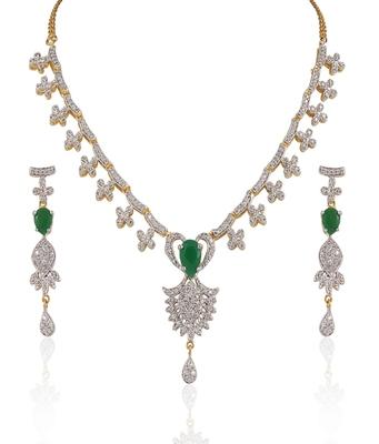 Heena Fashion multicolour stones necklace set @ HJNL58
