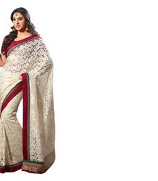 Buy Vishal Jacquard Net Off White Color Designer Dress Material Devi75 net-saree online