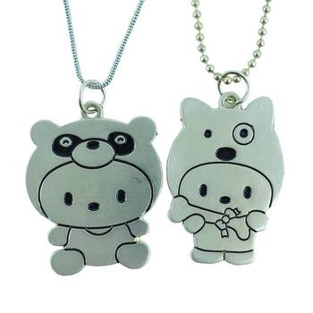 "DIOVANNI Friendship Pendants ""CUTE SNOOKIE PIE "" with dual chain Locket"