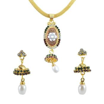 "AAKSHI Ethnic Jewellery ""Jhumka Ghira Re"" Set"