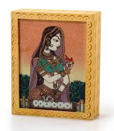 Buy Ethnic Gemstone Painted Wooden Hot Jewelry Box 355 jewellery-box online
