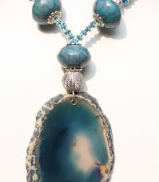 Buy Turquoise Agate Necklace. Necklace online